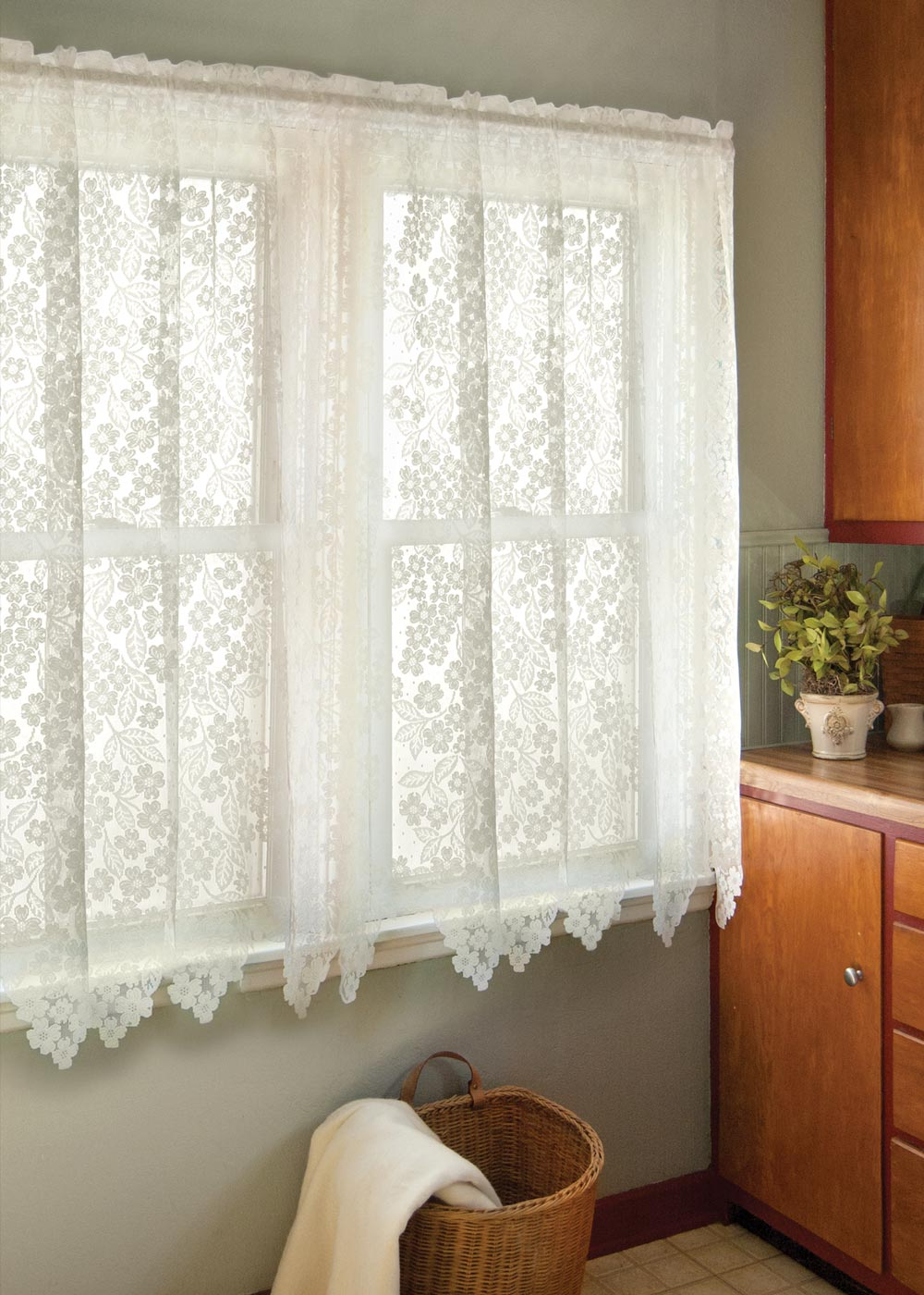White lace curtains 63 inches - White Lace Curtains 63 Inches 59