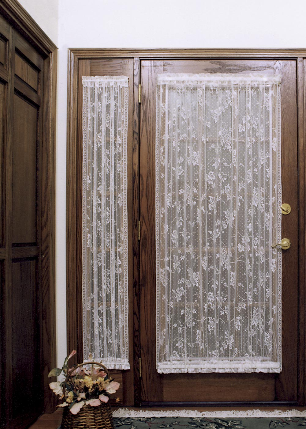 Door Panel Curtains : English ivy sidelight panel heritage lace