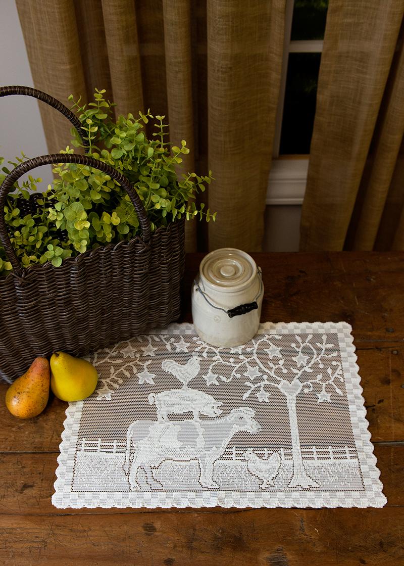 Farmhouse Placemats Set Of 6 Heritage Lace