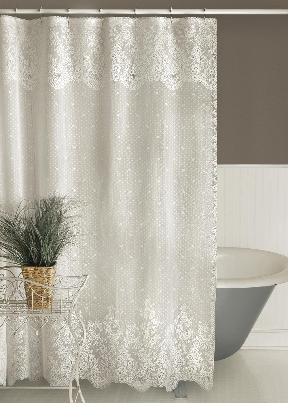 Floret Shower Curtain | Heritage Lace