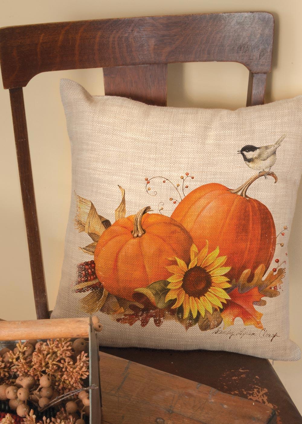 Harvest Pumpkin Pillow Cover | Heritage Lace