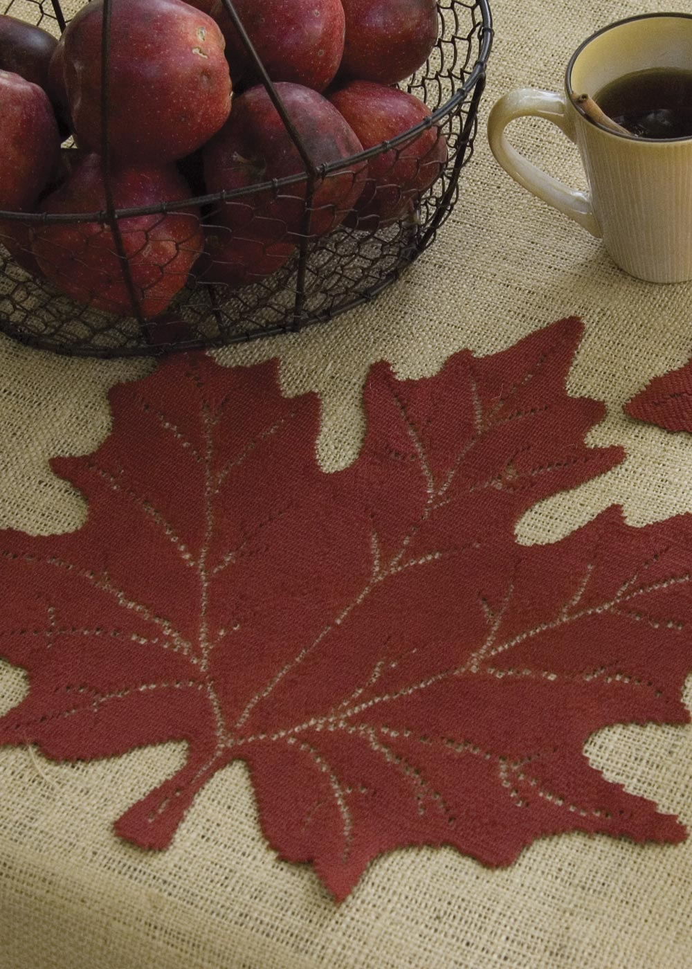 Lace Placemat Doily Set Maple Fall Table Linens From Leaf Collection Made In Usa Heritage Lace