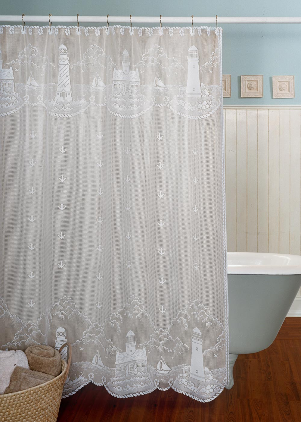 lighthouse shower curtain | heritage lace