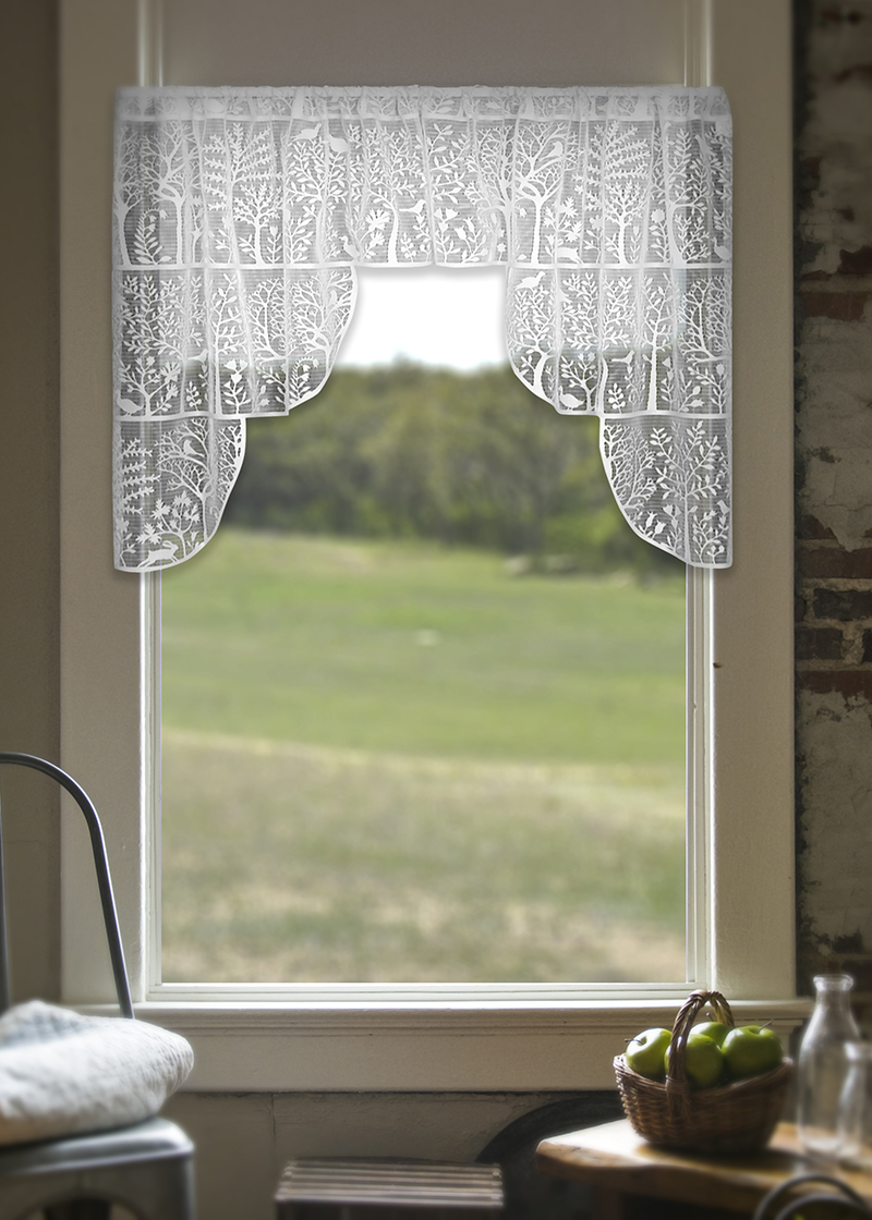 Lace Curtain Swag Pair Tree Of Life From Rabbit Hollow
