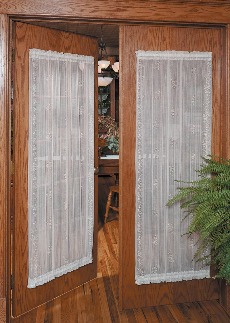 Lace Door Curtain Panel Divine Sheer From Sheer Divine