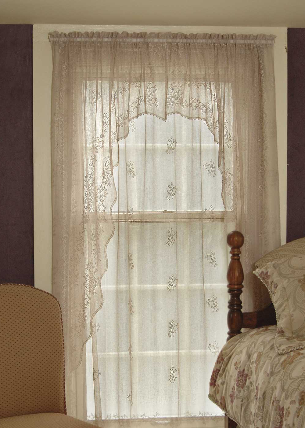 Lace Curtain Swag Pair Divine Sheer From Sheer Divine
