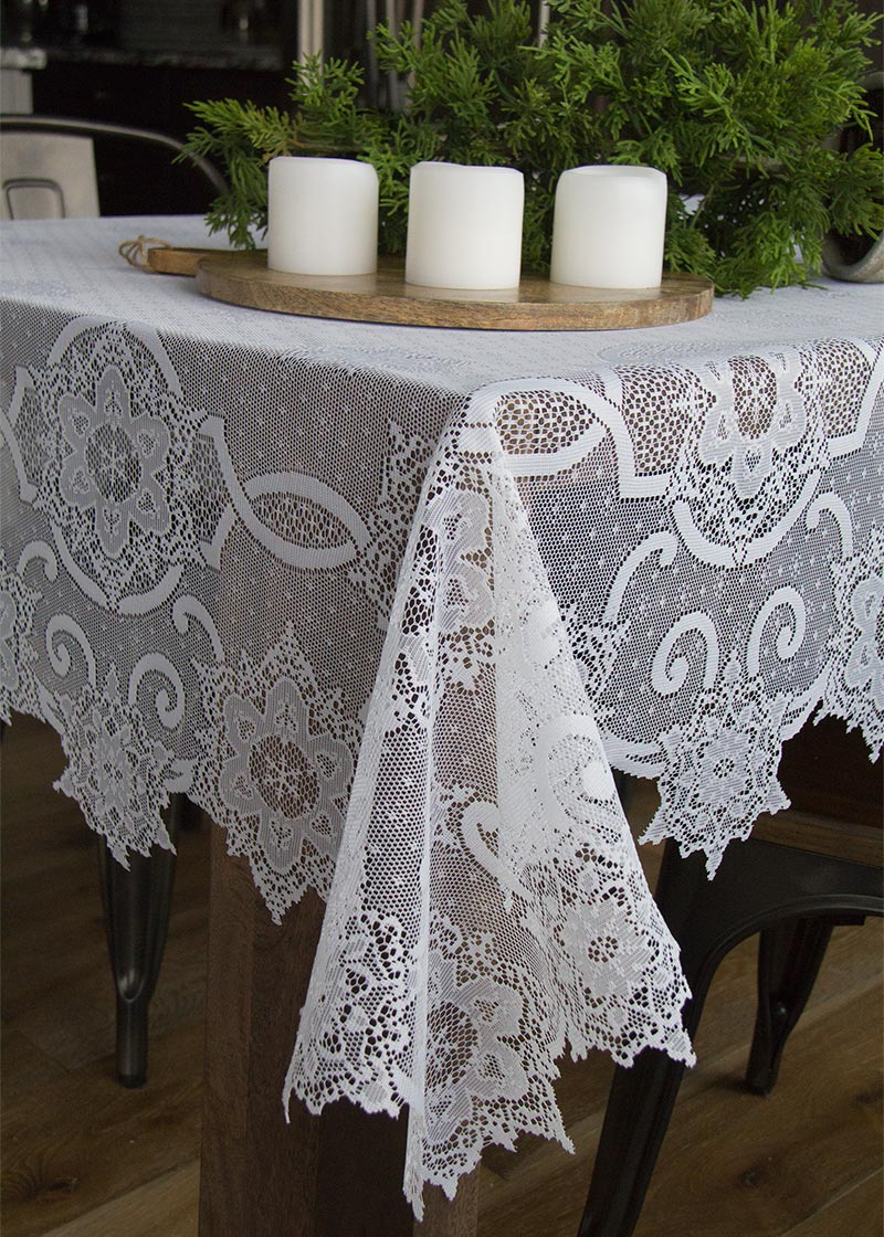 Snowflake Rectangle Tablecloth Heritage Lace