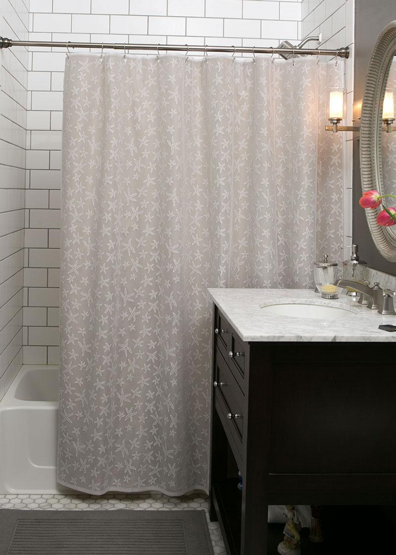 Starfish Shower Curtain | Heritage Lace