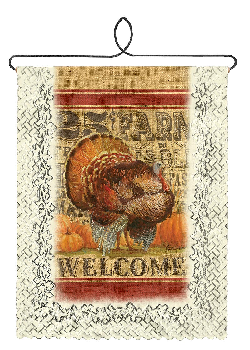 Turkey Welcome Wall Hanging Heritage Lace