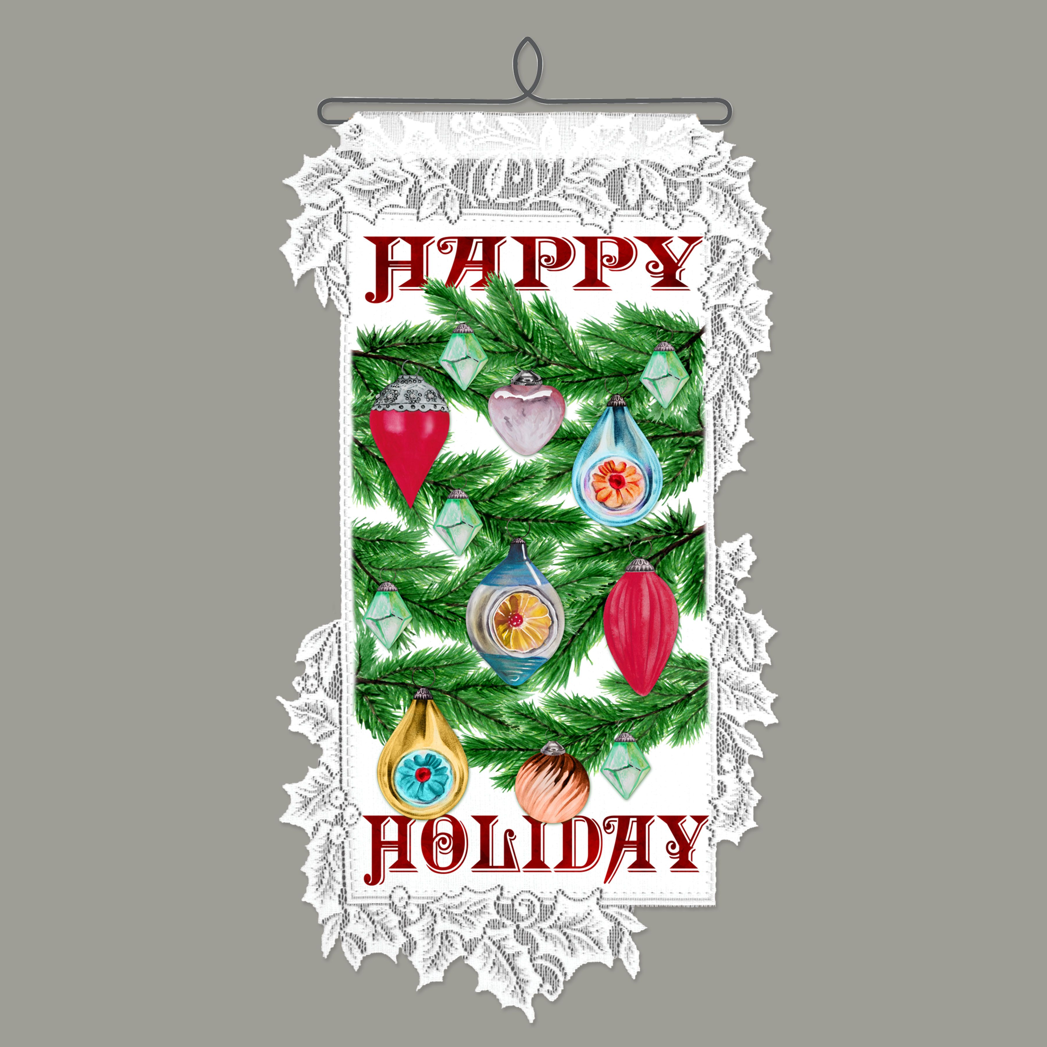 Lace Happy Home Wall Hanging Made In Usa Heritage Lace