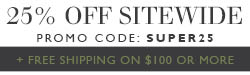 Sitewide S25% Off