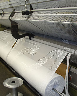 "Lace 180"" wide coming off knitting machine in Oxford NC"